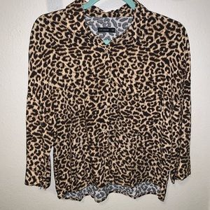 Cheetah button up shirt